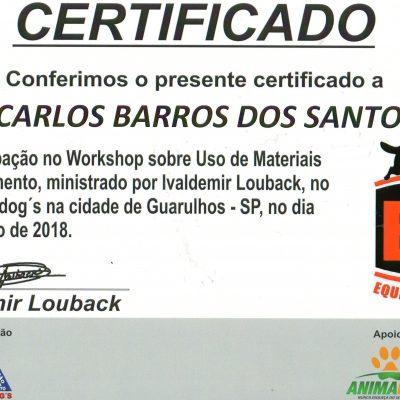 Certificado Workshop Materiais de Adestramento de cães