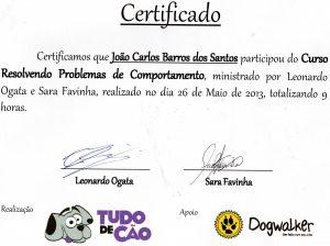 certificado adestramento de cães curso tudo de cão